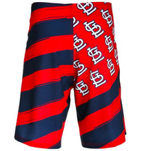 Load image into Gallery viewer, St Louis Cardinals Shorts - Mens Flag Stripe Swim and Board Shorts