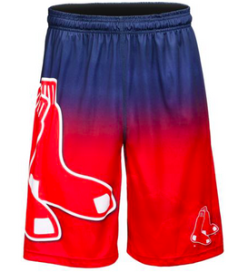 Boston Red Sox Shorts - Gradient Big Logo Training Shorts