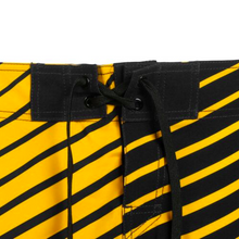 Load image into Gallery viewer, Boston Bruins Shorts - Mens Logo Poly Stripe Board Shorts