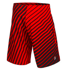 Load image into Gallery viewer, Detroit Red Wings Shorts - Mens Logo Poly Stripe Board Shorts