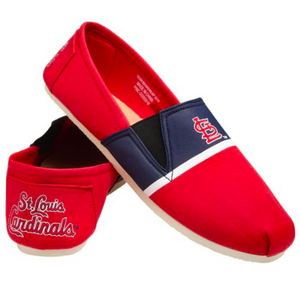 St Louis Cardinals Shoes - Men's Stripe Canvas Shoes