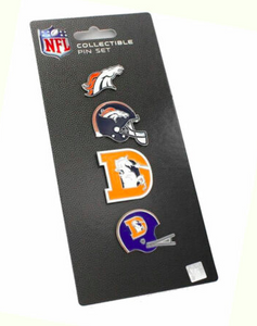 Denver Broncos - 4 Pin Collectible Set