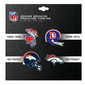 Denver Broncos - 4 Pin Franchise Timeline Collectible Set