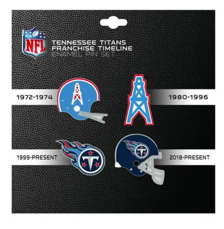 Tennessee Titans Houston Oilers - 4 Pin Franchise Timeline Collectible Set