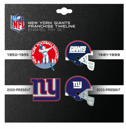 New York Giants - 4 Pin Franchise Timeline Collectible Set