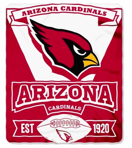 "Arizona Cardinals Blanket - Fleece  (50"" x 60"")"