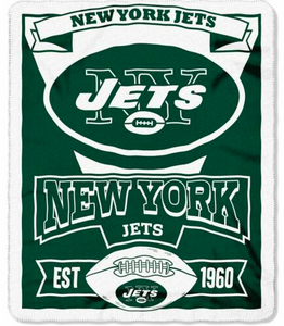 "New York Jets Blanket - Fleece  (50"" x 60"")"