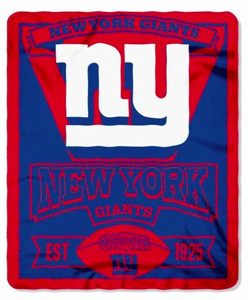 "New York Giants Blanket - Fleece  (50"" x 60"")"