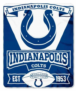"Indianapolis Colts Blanket - Fleece  (50"" x 60"")"