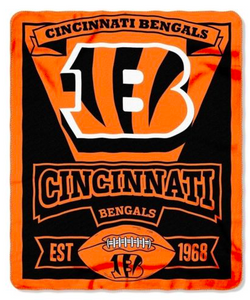 "Cincinnati Bengals Blanket - Fleece  (50"" x 60"")"