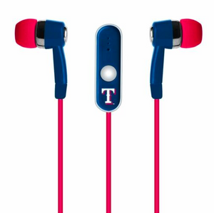 Texas Rangers Ear Buds - Logo Ear Buds with Microphone