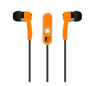 Baltimore Orioles Ear Buds - Logo Ear Buds With Microphone
