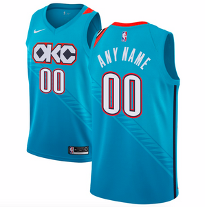 Oklahoma City Thunder Jersey - Custom Name and Number - Light Blue City