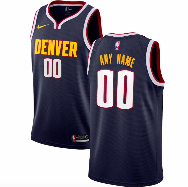 Denver Nuggets Jersey - Custom Name and Number - Blue