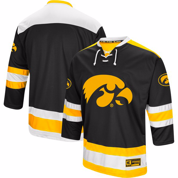 Iowa Hawkeyes Jersey - Custom Logo Hockey Jersey - Any Name and Number