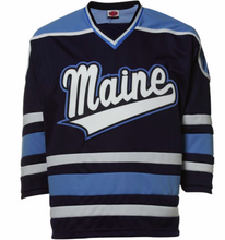 Load image into Gallery viewer, Maine Black Bears Jersey - Custom Script Hockey Jersey - Any Name and Number