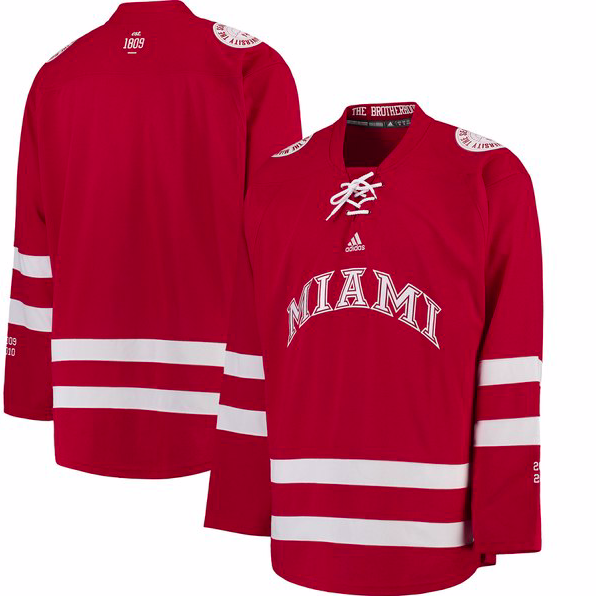 Miami University RedHawks Jersey - Custom Old Style Hockey Jersey - Any Name and Number