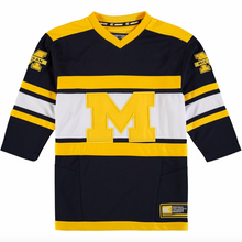 Load image into Gallery viewer, Michigan Wolverines Jersey - Custom Blue Hockey Jersey - Any Name and Number