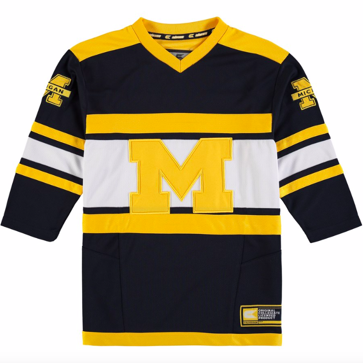Michigan Wolverines Jersey - Custom Blue Hockey Jersey - Any Name and Number