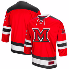 Load image into Gallery viewer, Miami University RedHawks Jersey - Custom Red Hockey Jersey - Any Name and Number