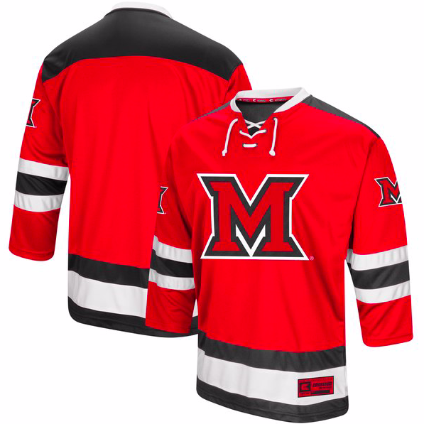 Miami University RedHawks Jersey - Custom Red Hockey Jersey - Any Name and Number