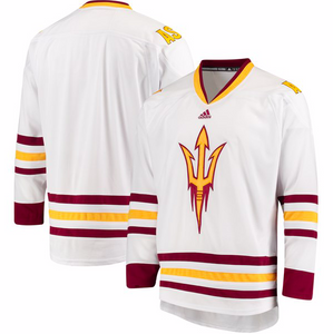 Arizona State Sun Devils Jersey - Custom White Hockey Jersey - Any Name and Number
