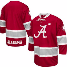 Load image into Gallery viewer, Alabama Crimson Tide Jersey - Hockey Style Logo Custom Jersey - Any Name and Number