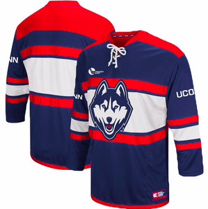 UConn Huskies Jersey - Hockey Style Mascot Custom Jersey - Any Name and Number