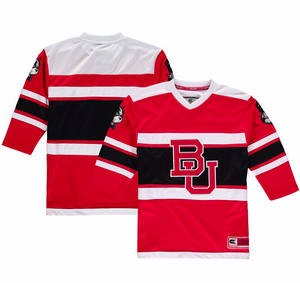 Boston University Jersey - Custom Red Open Net Hockey Jersey - Any Name and Number