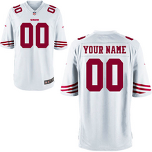 Load image into Gallery viewer, San Francisco 49ers Jersey - Men's White Custom Game Jersey