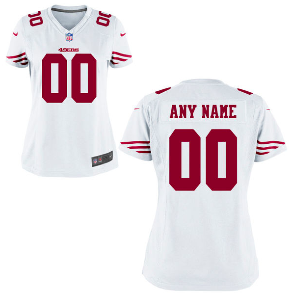 San Francisco 49ers Jersey - Women's White Custom Game Jersey