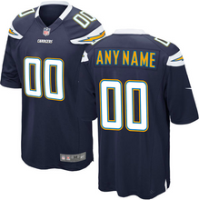 Load image into Gallery viewer, Los Angeles Chargers Jersey - Men's Navy Blue Custom Game Jersey