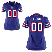 Load image into Gallery viewer, Buffalo Bills Jersey - Women's Blue Custom Game Jersey