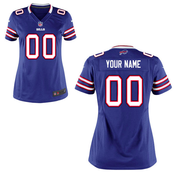 Buffalo Bills Jersey - Women's Blue Custom Game Jersey