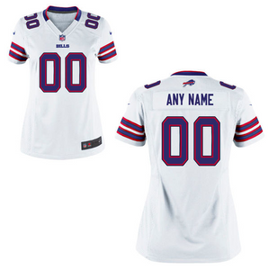Buffalo Bills Jersey - Women's White Custom Game Jersey