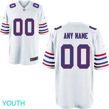 Load image into Gallery viewer, Buffalo Bills Jersey - Youth White Custom Game Jersey