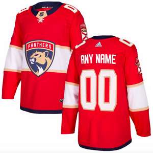 Florida Panthers Jersey - Red Jersey Custom Any Name or Number