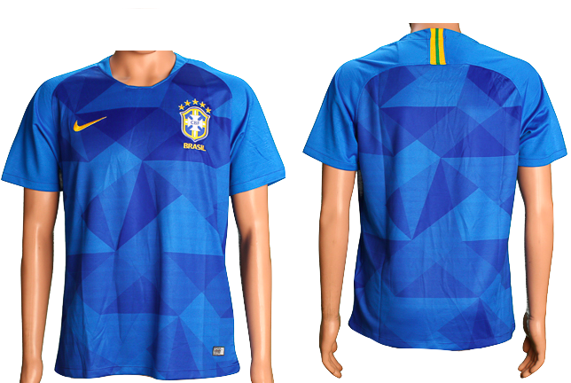 Brazil 2018 FIFA World Cup Jersey - Custom Any Name or Number Blue Jersey