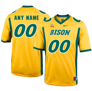 North Dakota State Bison Jersey - Custom Yellow Jersey - Any Name and Number