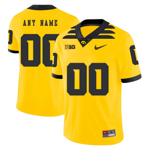 Iowa Hawkeyes Jersey - Custom Gold Jersey - Any Name and Number