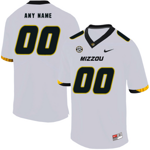Missouri Tigers Jersey - Custom White Jersey - Any Name and Number