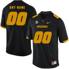 Load image into Gallery viewer, Missouri Tigers Jersey - Custom Black Jersey - Any Name and Number