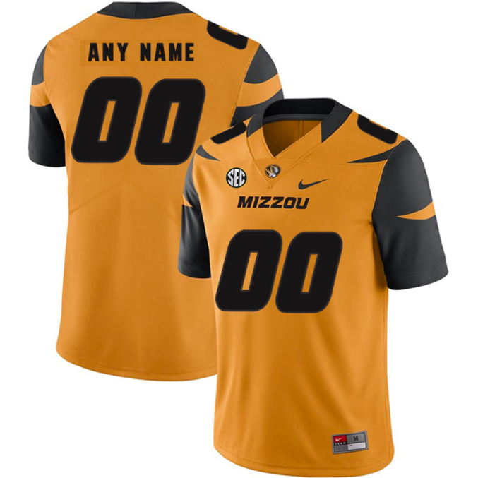 Missouri Tigers Jersey - Custom Gold Jersey - Any Name and Number