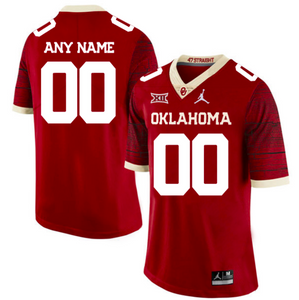 Oklahoma Sooners Jersey - Custom Limited Red Jersey - Any Name and Number