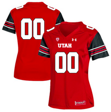 Load image into Gallery viewer, Utah Utes Jersey - Custom Red Women's Jersey - Any Name and Number