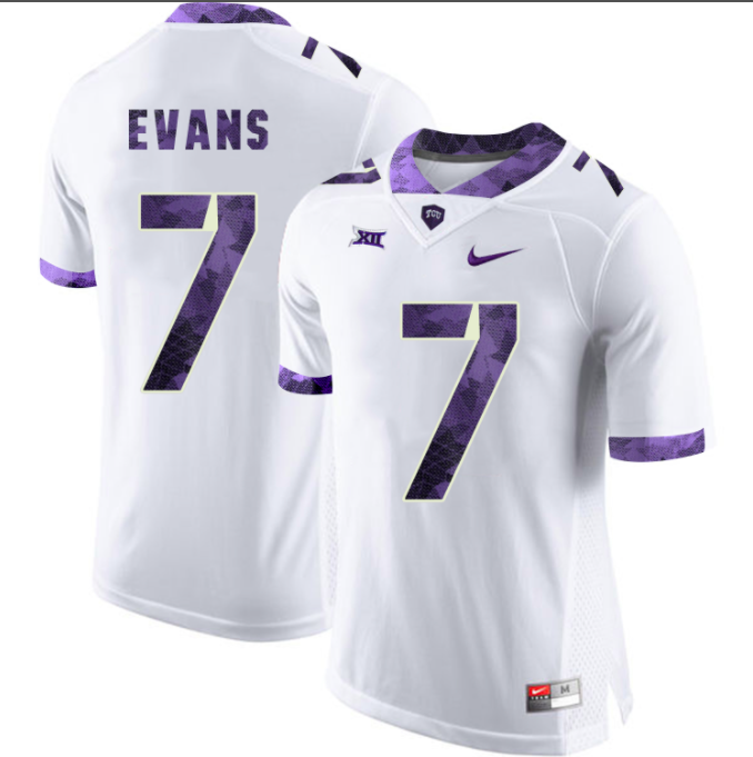 TCU Horned Frogs Jersey - Custom White Jersey - Any Name and Number