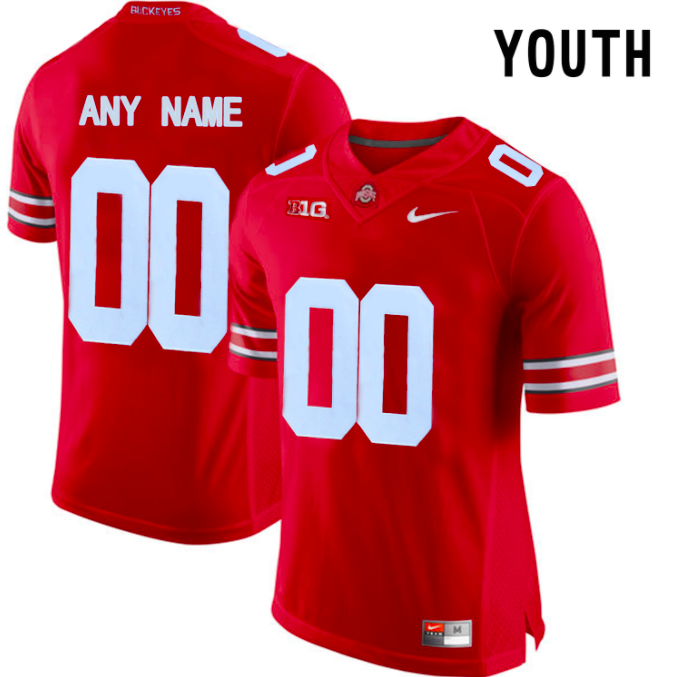 Ohio State Buckeyes Jersey - Custom YOUTH Scarlet Jersey - Any Name and Number