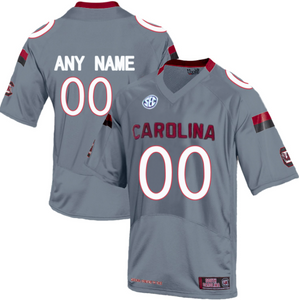 South Carolina Gamecocks Jersey - Custom Gray Jersey - Any Name and Number