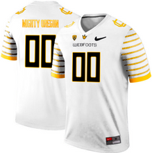 "Load image into Gallery viewer, Oregon Ducks Jersey - Custom White ""Webfoots"" Jersey - Any Name and Number"