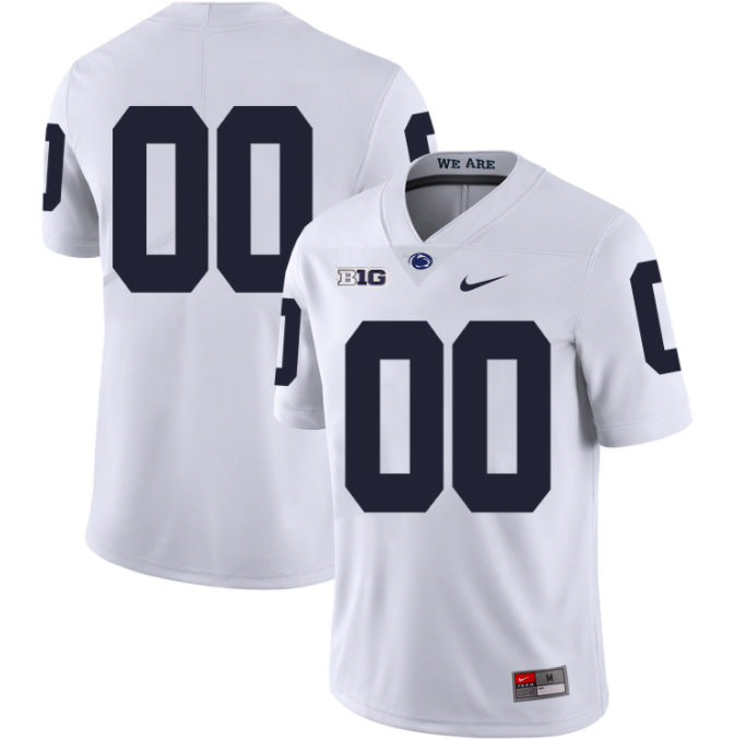 Penn State Nittany Lions Jersey - Custom White Jersey - Any Name and Number